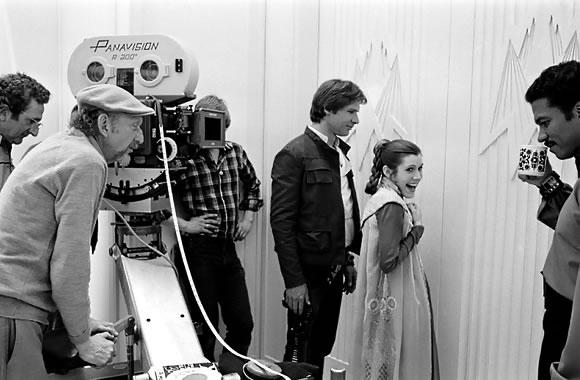 Leia e Han Solo Gravando
