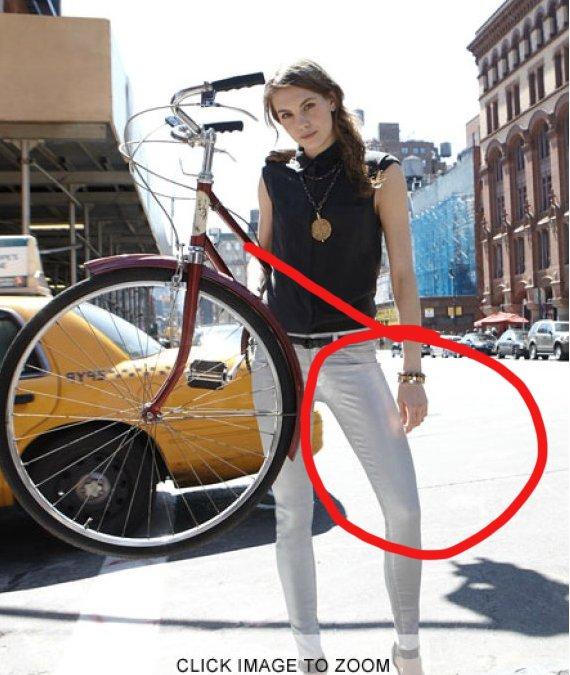 A metade da bicicleta
