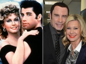 John Travolta e Olivia Newton-John, estrelas do sucesso Grease - Nos Tempos da Brilhantina, de 1978