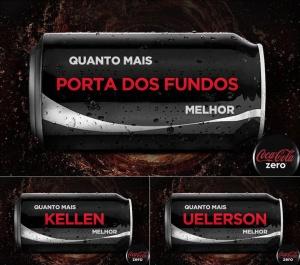 Homenagem da Coca-Cola ao Porta dos fundos