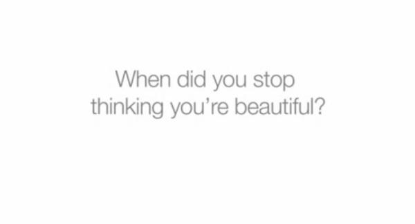 Quando você deixou de se achar bonita